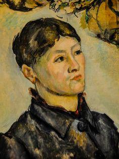 Paul Cézanne - Portrait of Madame Cezanne, 1887 at the Museum of Art Philadelphia, PA Cezanne Art, Paul Cezanne Paintings, Renoir, Cezanne Portraits, Philadelphia Museum Of Art, Philadelphia Pa, Aix En Provence, Paul Gauguin, Claude Monet