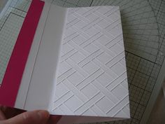look at this scored basket weave design... wow!