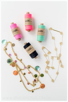 DIY | Sommer Armbändchen mit Bäckergarn Summer Bracelets by 180° Salon