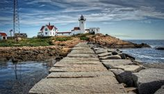 Path to the Light - Eastern Point Lighthouse, Gloucester, Massachusetts Beacon Of Light, Light In The Dark, Gloucester Massachusetts, Nantucket, New England, Places Ive Been, Paths, Beautiful Places, Places To Visit