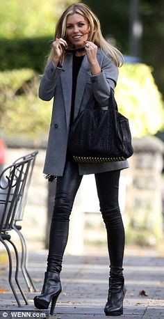 Abbey Crouch wears her favourite leather trousers for the second day running | Mail Online