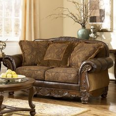 Fresco DuraBlend - Antique Loveseat by Signature Design by Ashley