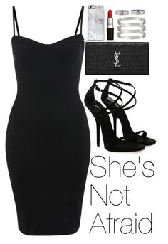 """""""She's Not Afraid"""" by zarryalmighty ❤ liked on Polyvore featuring Miss Selfridge, Giuseppe Zanotti, Yves Saint Laurent, Cartier, women's clothing, women, female, woman, misses and juniors"""