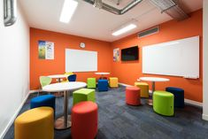 Concentrix, a global software and business services provider, required a fast track fit out throughout their new three-storey office. Desk Areas, Office Interiors, Colorful Interiors, Interior Inspiration, Software, Track, London, Interior Design, Business