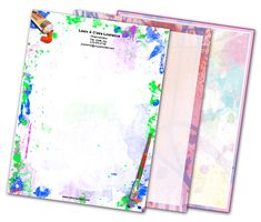 Download this Paint Splash Letterheads and other free printables from MyScrapNook.com