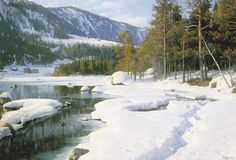 PEDER MONSTED (DANISH 1859-1941) A SUNNY SNOWSCAPE - by Sotheby's
