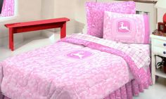 John Deere Pink Camo Bedding Set