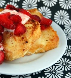 Angel Food Cake French Toast - Sinfully delicious! We loved it. But very rich!