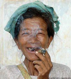 Old lady at Indein, Inle Lake, MYANMAR