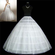 >> Click to Buy << Wholesale White Black Wedding Accessories Slip Bridal Petticoat Crinoline 6 Hoops With 2 layer tulle #Affiliate
