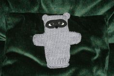 Raccoon Puppet - knit puppets - knitted animals