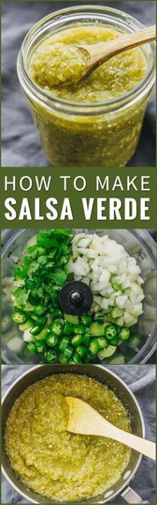 Heres a step-by-ste Heres a step-by-step foolproof... Heres a step-by-ste Heres a step-by-step foolproof recipe on how to make salsa verde! Its so easy to make this at home using pureed tomatillos serrano peppers onion cilantro and lime. tomatillo sauce t