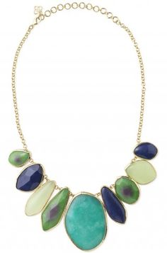 Blues, Greens and bright yellow gold tones--- an absolute must for Spring 2012