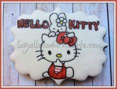 Galleta Hello kitty pintada a mano.