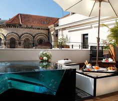 A great place to read.....Rooftop Plunge Pool at the Five Hotel & Spa, Cannes, France.