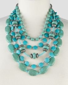 Turquoise-Look Nugget and Bead Torsade, Get awesome discounts up to Off at Stein Mart using Mother's Day Promo Codes. Turquoise Necklace, Beaded Necklace, Necklaces, Mother's Day Special Gifts, Fashion Necklace, Beads, Awesome, Stuff To Buy, Jewelry
