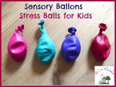 I just love this whole website!!! - Creative Playhouse: Sensory Balloons | Toddler Stress Balls