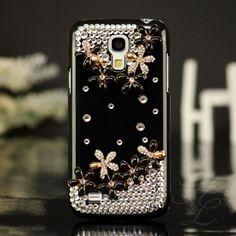 Samsung Galaxy S4 mini i9195 Hard Case Handy Schutz Hülle Etui Steine Schwarz 3D