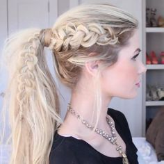 PRESS PLAY! Viking Braid  #barefootblondehair                              …