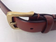 Ralph Lauren Mens Genuine Leather Designer Brown Belt  Size 34 #LaurenRalphLauren