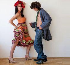 Hey, I found this really awesome Etsy listing at https://www.etsy.com/listing/11215686/flamenco-crochet-dress-orange-green