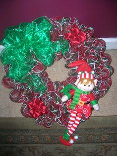 Christmas Elf Wreath 2 $40