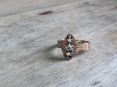 Antique 14K pearl diamond ring signed H B by VictoriaVVintage on Etsy
