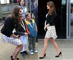 Duchess Kate in  Late April 2013 (3rd trimester).  Sophie Sulehria, The BBC / SplashNews.com
