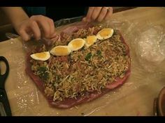 Braciole Recipe - Laura in the Kitchen - Internet Cooking Show Starring Laura Vitale Italian Dishes, Italian Recipes, Beef Recipes, Cooking Recipes, Italian Cooking, Cooking Videos, Clean Recipes, Healthy Recipes, Beef Dishes