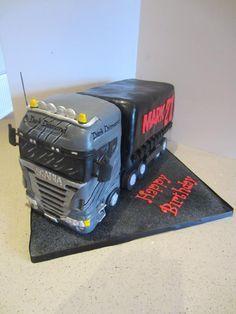 Scania Dark Diamond Birthday Cake