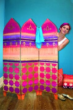 Paravent orientalisch Kalif Storch, Beach Mat, Diy And Crafts, Outdoor Blanket, Boho, Outdoor Decor, Folding Screens, Room Dividers, Diy Wood