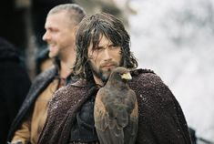 Mads Mikkelsen in King Arthur, apparently I have a thing for primitive men with face tattoos & messenger birds, lol!