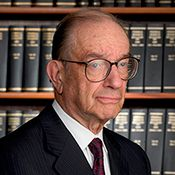 Biography of Alan Greenspan, a person who figures prominently in the Federal Reserve's history. Janet Yellen, Biography, History, Chair, Reading, People, Pictures, Photos, Historia