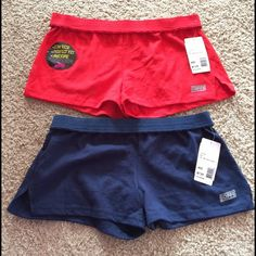 NWT soffe shorts bundle! brand new low rise soffe shorts. both still have the tags on. navy blue pair is missing the sticker but that's it. both pairs are size medium.  feel free to ask about offers and trades! everything is cheaper on merc :) Soffe Intimates & Sleepwear Pajamas