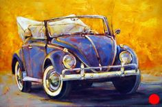 Susie Cipolla, 'Color Me Blue', x Car Painting, Oil Painting Abstract, Watercolor Art, Vintage Cars, Antique Cars, Vw Cabrio, Art Gallery, Artsy Photos, Galerie D'art