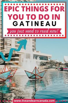 Are you looking for things to do in Gatineau? Gatineau is located near Ottawa in Canada and it is how to plenty of amazing things. Enjoy some good food, great people and sightseeing activities when you visit Gatineau. Best Vacations, Vacation Destinations, Vacation Trips, Vacation Spots, Best Places To Live, Best Places To Travel, Places To Visit, Stuff To Do, Things To Do