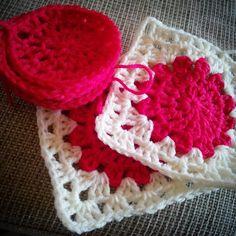Quadrados de crochet