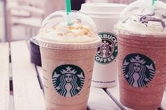 Now I know tons of people love Starbucks for their hot coffee, but since it's warmer and I love their cold drinks, I thought I'd share some. How To Order Starbucks, Starbucks Drinks, Starbucks Coffee, Hot Coffee, Coffee Drinks, Coffee Cups, Starbucks Vanilla, Starbucks Caramel, Pink Starbucks