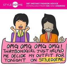 We're sure all you fashionistas will have the same level of excitement when this happens  Make it happen! Download the StyleDotMe app NOW to get expert fashion advice instantly  #Styledotme #bloggerlove #bloggersadvice #bloggers #instantfashion #instantadvice #instantfashionadvice #style #fashion #fashionable #sdm #thatbohogirl #advice