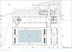 Image 24 of 28 from gallery of Universidad de los Andes Sport Facilities / MGP Arquitectura y Urbanismo. first level plan Swimming Pool Plan, Olympic Swimming, Indoor Swimming Pools, Swimming Pool Designs, Cultural Architecture, School Architecture, Architecture Plan, Swimming Pool Architecture, Circle House