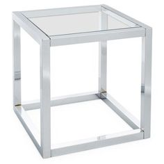 Check out this item at One Kings Lane! Whitney Side Table, Nickel