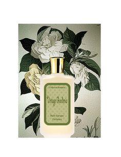 Vintage Gardenia.  Handcrafted. Wedding  Perfume for the bride. Fresh floral green. 3.3 oz (100ml)