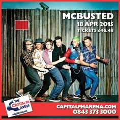 With the excitement of 2014's most incredible, jaw-dropping arena tour still ringing in fans' ears nationwide, and almost exactly one year on from their formation, McBusted announce their return to the live stage in spring 2015 with a date at Capital FM Arena Nottingham on 18 April 2015 #mcbusted #capitalfmarena