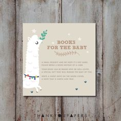 Baby Shower Books For Baby Cards Insert Gender by Thankyoupapers