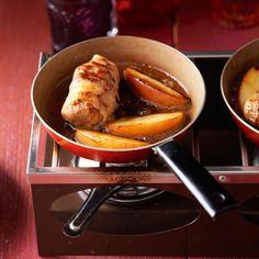 Slavink met honingappeltjes - Deze slavinkjes zijn lekker met gebakken ringetjes bosui of uienringen. #recept #gourmet #JumboSupermarkten