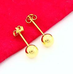 Nueva Manera 24 K Plateó el Pendiente de Oro Amarillo de Oro Pendiente de Las Mujeres Del Regalo de Boda Del Envío Libre YHDE012