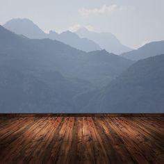 selbermalen: Fototapete Berglandschaft