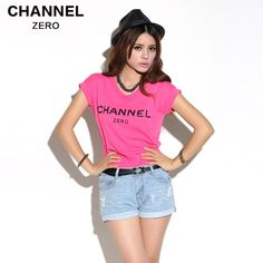 Hot Pink Channel Zero Tee With Black Ink - FixShippingFee- - TopBuy.com.au