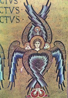 Seraph ( or Seraphim) highest order of angels- 6 wings- they are actually very bright and have a strong glow. This is from a basillica in Sicily, Italy (mosaic work) Byzantine Icons, Byzantine Art, Byzantine Mosaics, Thé Illustration, Illustrations, Potnia Theron, Order Of Angels, Seraph Angel, Angel Hierarchy
