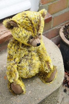 Ethan (an original mohair teddy bear by BigFeetBears)